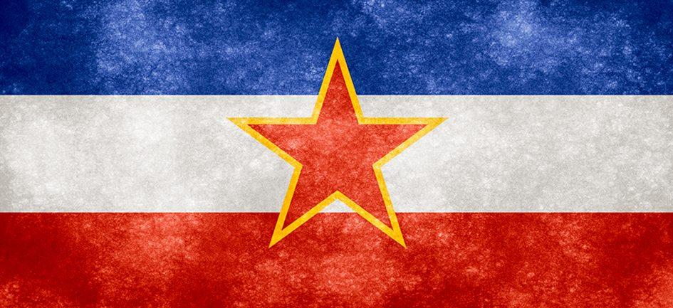 Yugoslavia Grunge Flag