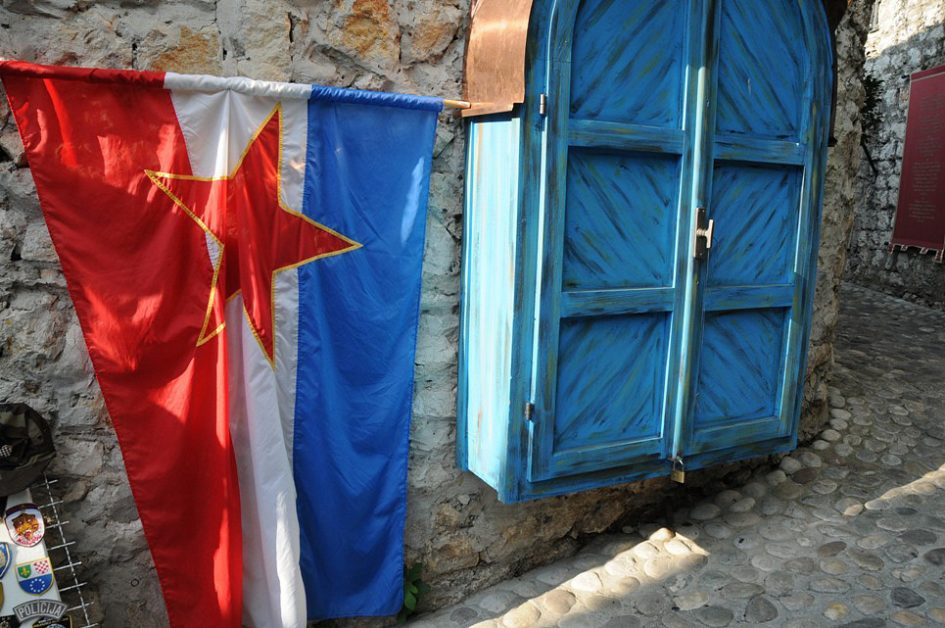 Yugoslav flag in Mostar, 2009