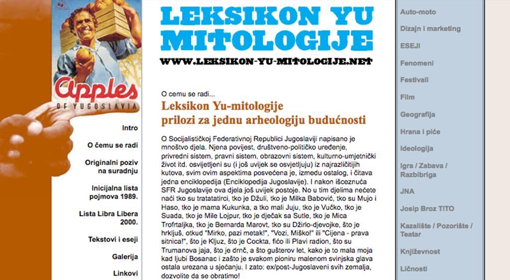 Leksikon YU Mitologije - Website 2002