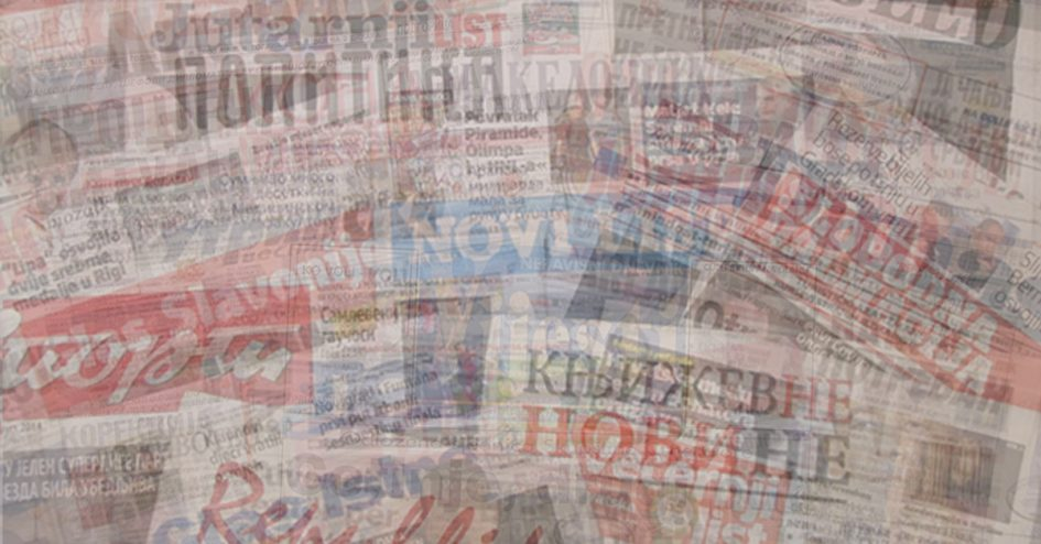 Ex-Yugoslav Newspaper Collage