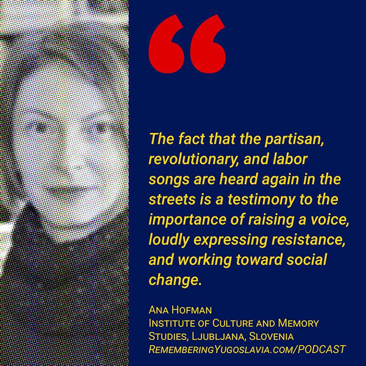 Ana Hofman on Yugoslav Partisan songs