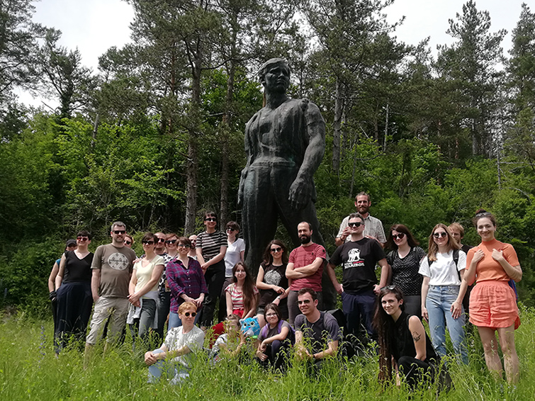 Sanja Horvatincic's fieldwork team and supporters at Drežnica