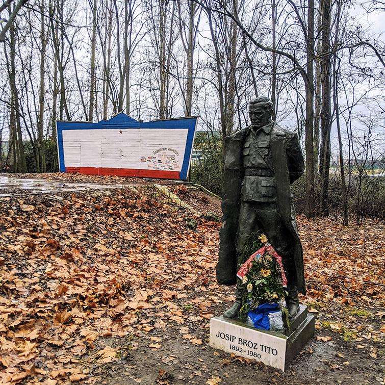 Tito statue at Mini Yugoslavia