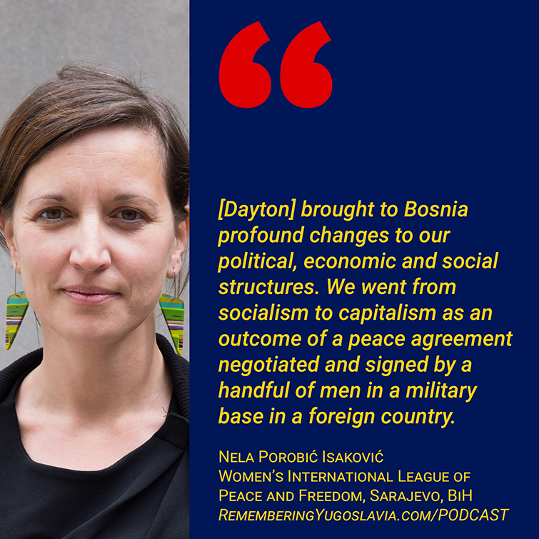 Nela Porobic Isakovic on 25 years of Dayton Peace Accords