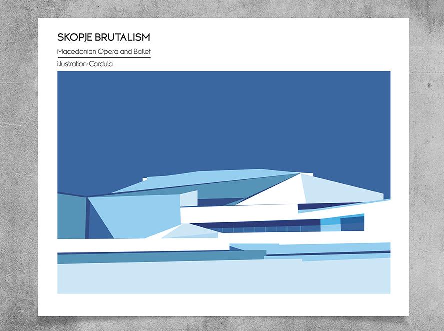Yugoslavian Design - Cardula - Skopje Brutalism