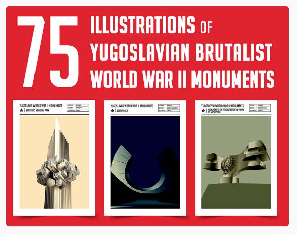 Yugoslavian Design - Cardula - WWII Monuments