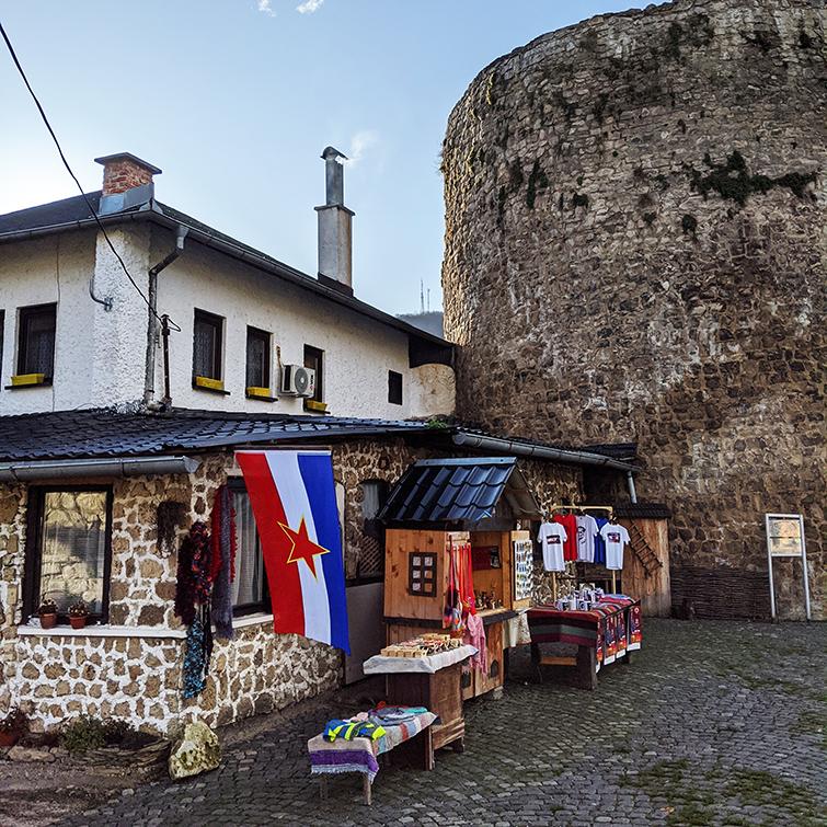 Flag of Yugoslavia at Jajce Fort