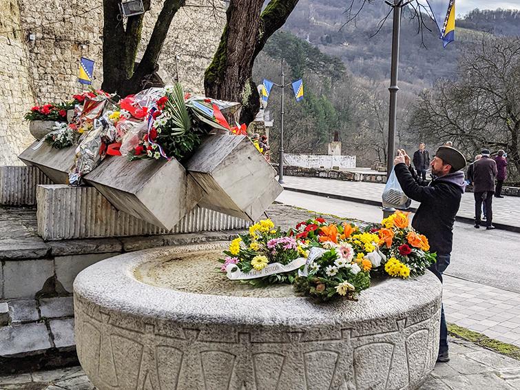 Jajce Memorial Fountain at 2019 Days of AVNOJ