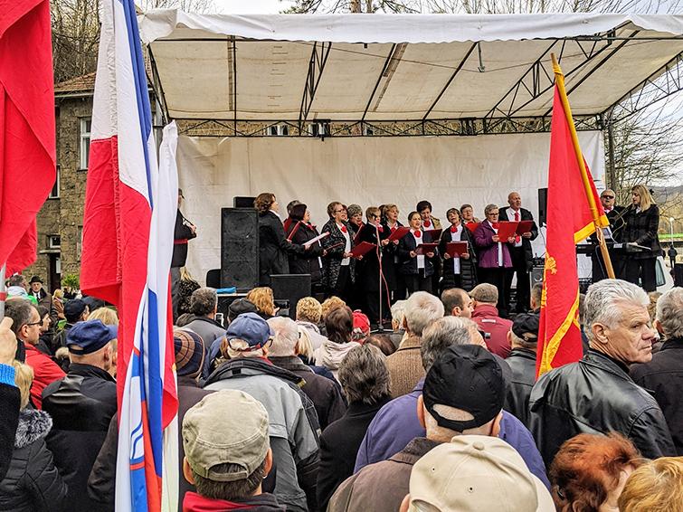 Jajce Pensioners Choir Singing at 2019 Days of AVNOJ