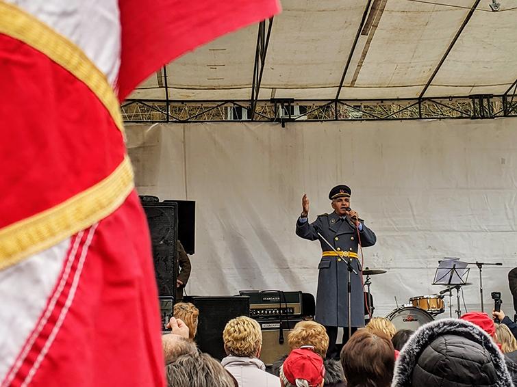 Macedonian Delegate Singing Zivela Jugoslavija at 2019 Days of AVNOJ