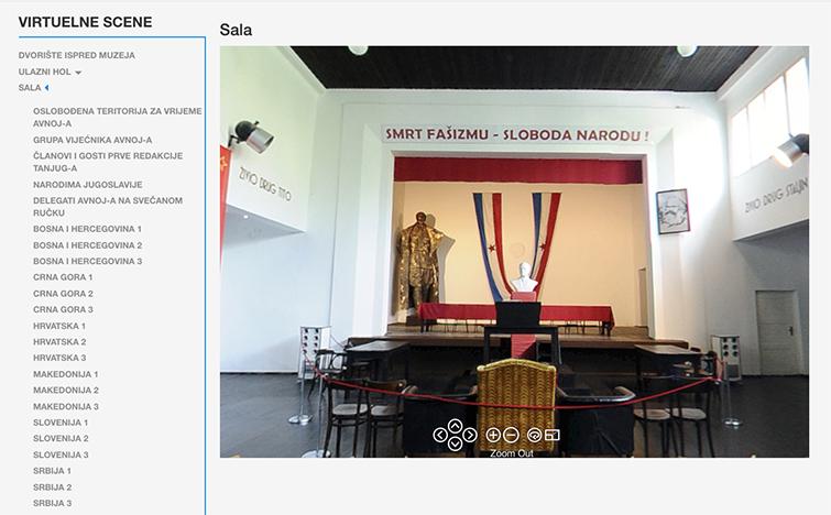 AVNOJ Museum Website with Tito Statue