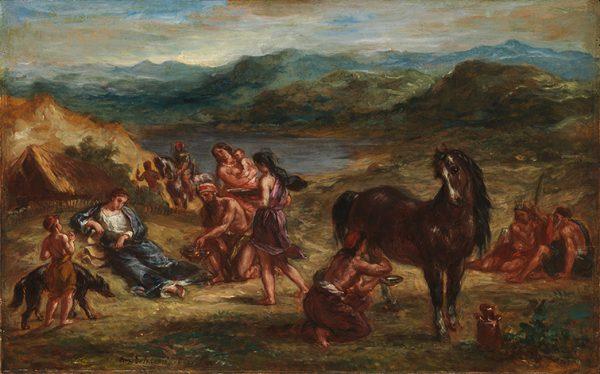 Ovide chez les Scythes by Eugene Delacroix