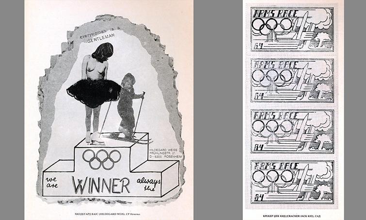 Yugoslav Mail Art - Olympics Exhibition Samples