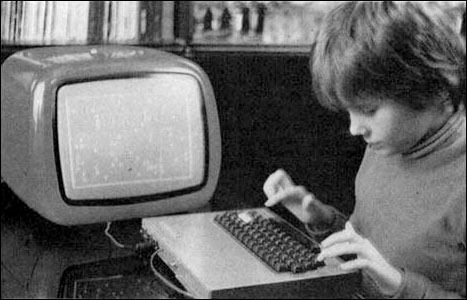 A primary school pupil using a Galaksija computer in via-old-computers-via-Ivan-Siric