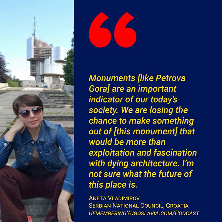 Aneta Vladimirov quote about monuments