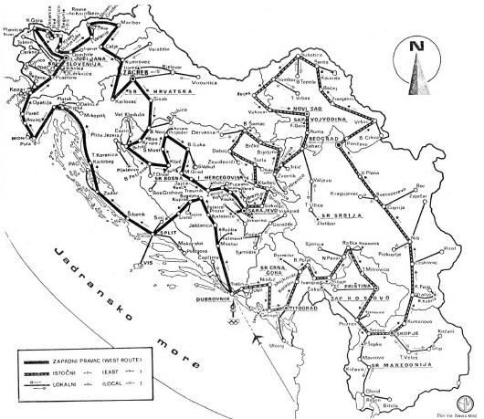 Sarajevo 84 Torch Relay Routes