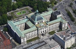 Aerial image of the Justizpalast Munich