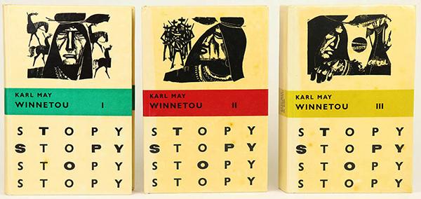 Winnetou books in the Slovak-language Stopy (Tracks) Edition