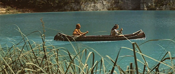 Winnetou and Old Shatterhand canoeing across Yugoslavia