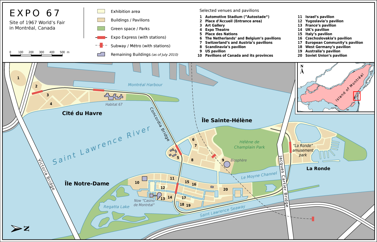 Expo 67 Site Map